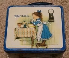 Vintage  Holly Hobbie Lunch Box  Good Condition Holding Flowers / Baking