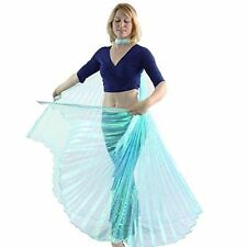 Danzcue Adult M/L Iridescent Neon Turquoise Belly Dance Worship Angel Wings