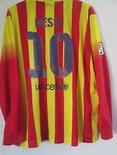 Barcelona Messi 10 2013-2014 LS Away Football Shirt Size XXL /41312