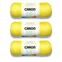 3 Skeins Caron Simply Soft Brites Yarn, Gauge 4 Medium Worsted