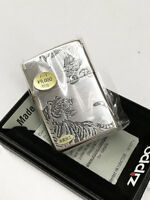 Zippo Tiger Dragon Both Sides Etching Japan Limited Oil Lighter Cool Mega Rare