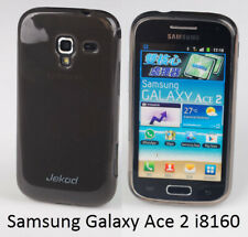Jekod black TPU gel silicon case cover+screen protector for Samsung Galaxy Ace 2