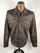MADE Cam Newton Men's Jacket Large Brown Waxed Cotton Purple Lining Distressed