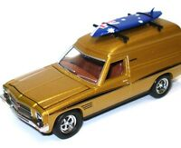 NEW Cooee Road Ragers 1974 HQ Orange Holden Sandman Surfie Van & Surf Board 1:64