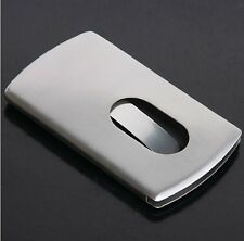 Best Thumb Slide Out Stainless Steel Pocket Business Credit Card Holder Case