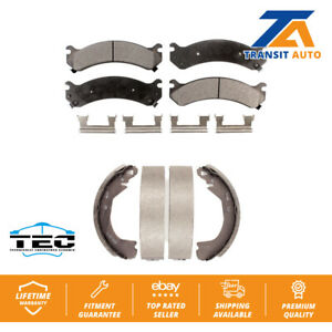 Front Rear Ceramic Brake Pad And Drum Shoes Kit 2002 Cadillac DeVille