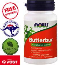 Now Foods, Butterbur, 60 Vegan Capsules - Neurological Support