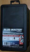 JUEGO DE 25 BROCAS HSS 1 A 13 MM CADA 0,5 MM BLUE MASTER Referencia D0011