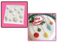 Katy Sue Christmas Baubles Cupcake & Cake Sugarcraft Mould NEXT DAY DESPATCH