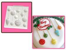 Katy Sue Navidad Bolas Cupcake & Pastel Sugarcraft Molde envío al día siguiente