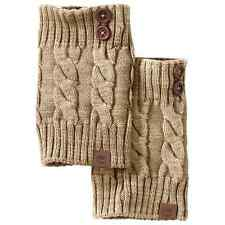 Timberland Women's Chunky Knit Acrylic Oatmeal Heather Boot Cuffs Style TW432