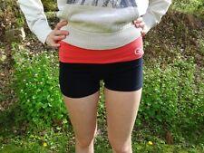 Gilly Hicks Yoga Shorts Medium Pink and Navy Blue Cheeky Stretch