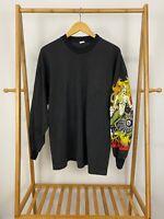 VTG 90s Fire Mermaid 8 Ball Cards Long Sleeve 50/50 Long Sleeve T-Shirt XL USA