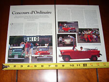 KING MIDGET ATHENS OHIO MINI - MICRO CAR - ORIGINAL 1993 ARTICLE