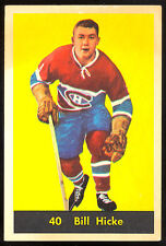 1960 61 PARKHURST HOCKEY #40 BILL HICKE EX+ MONTREAL CANADIENS CARD