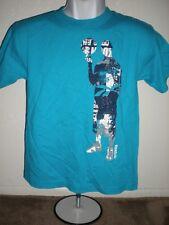 NEW Reebok YOUTH Medium M 10-12 Basketball Turquoise T-Shirt 45FG