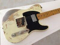 FD Relic Handmade Electric Guitar ASH Body Humbucker Neck Pickups Vintage Tuner