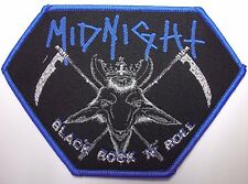 midnight black rock n roll WOVEN  PATCH