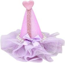 Mirage Pet Products Pretty Party Hat Clip-on, Standard, Lavender