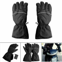Motorrad Fahrrad Beheizbare Motorradhandschuhe Handschuhe Wasserdicht Schwarz