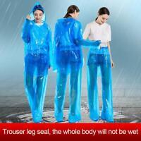 Disposable Raincoat Rain Pants Set Dustproof Waterproof Raincoat Suit Anti-fog