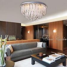77381317 60CM Luxury Round Living Dining Room Hall Ceiling Light Crystal Glass
