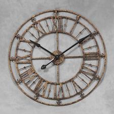 GRANDE Oro Antico Orologio Scheletro in metallo - 76 cm DI DIAMETRO-NUOVO