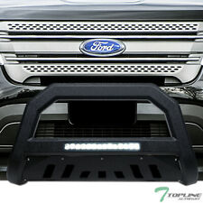 Topline For 2011-2019 Ford Explorer AVT Aluminum LED Bull Bar - Textured Black