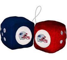 New England Patriots Fuzzy Dice NFL Football Team Logo Plush Car Truck Auto