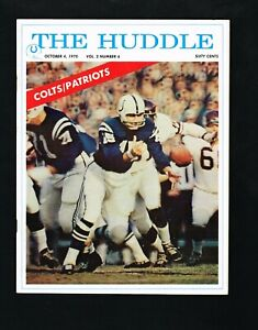 1970 Baltimore Colts vs New England Patriots The Huddle NFL Football Program