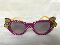 Lunettes de soleil solaires uv400 enfants violettes pois mauves noeuds original