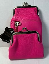 New Premium Leather Cigarette Case Holder Zippered Coin Purse Wallet Pink