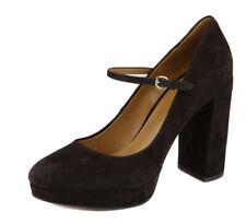 Coach Women's Chestnut Goldie Suede Mary Jane Platform Heel Shoes Ret $195 New