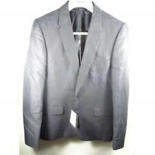 Paul Smith Navy Blue Jacket Fine Checks SB Size 38 Inch RRP 475 Fully Lined Dar