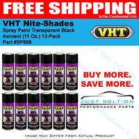 VHT Nite-Shades Spray Paint Transparent Black Aerosol SP999 (11 Oz.) 12-Pack