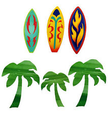 50 Surfboards & Palm Trees Hang 10 Decor Wall Stickers Decals Wallpaper Cutouts