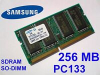 256MB PC133 SDRAM CL3 SO-DIMM 144pin 133MHz NOTEBOOK LAPTOP SODIMM RAM SPEICHER