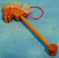 1:12th Scale Wooden Hobby Horse Dolls House Miniature Nursery Garden Toy