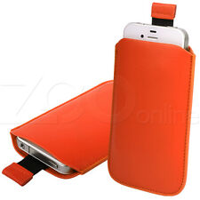 ORANGE PU LEATHER PULL-UP POUCH COVER CASE SLEEVE FOR BLACKBERRY 9790 BOLD PHONE
