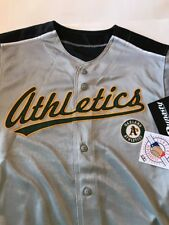 Oakland Athletics Jersey Gray Green Size Large Dynasty A's Men's L NWT New MLB
