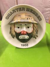 Emmett Kelly Jr Clown 5 1/2 Inches Tall Charter Member 1988 Flambro Figurine