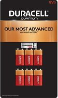 Duracell Quantum 9V Alkaline Batteries 6 Pack (Damaged Packaging)
