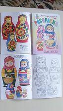 Russian kids coloring paint yourself Matrioshka MATRYOSHKA nesting dolls book
