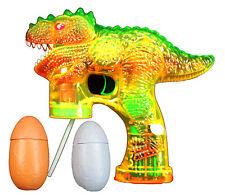DINOSAUR Bubble Gun Blower Blaster with Flashing LED Lights & Music 2 Refill