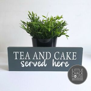 Tea and Cake served here, standing sign