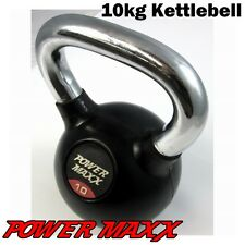 POWER MAXX 10kg Kettlebell Kettle Bell Workout Iron Weights Training Fitness Gym