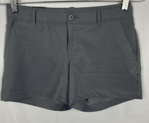 Under Armour Womens Gray Fitted Shorts Size 4 Pockets Heatgear NWT New $74