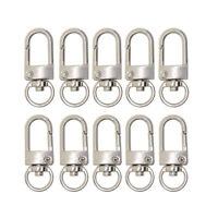 10pcs Kit Lobster Clasp Swivel Trigger Clip Snap Hook Bag Car Rings Keychain New