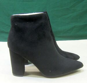 """LILIANA new Black 4""""BLOCK High Heel POINTY TOE Sexy Ankle Boots Size 8.5"""