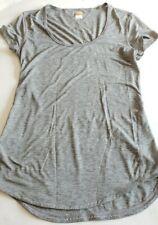 Lucy Tech Women's Activewear Top Shirt XS Flaw Gray Short Sleeve